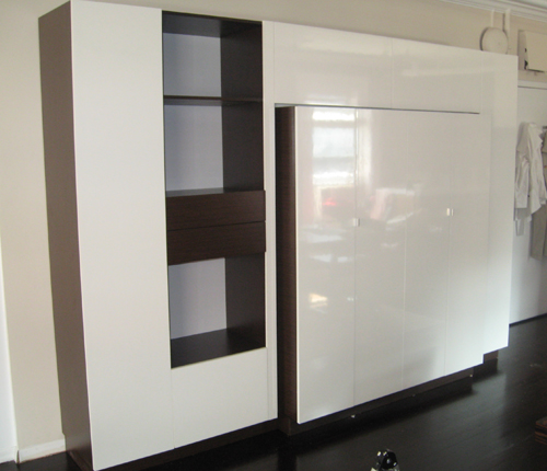 HOME OFFICE - White Glossy Fronts w/ Wenge Matte Case
