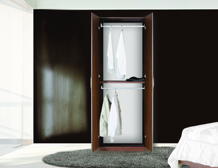 Double your wardrobe space by double hanging