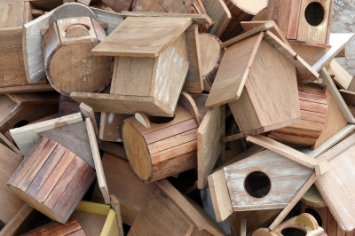 How NOT to organize your birdhouse collection