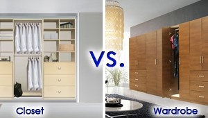 closet vs. wardrobe