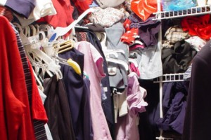 Does your closet look like this? Feel like you have no room to organize? Read on for some solutions.
