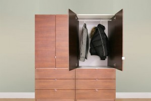 Contempo Closet&#039;s freestanding wardrobe solutions provide an affordable alternative for nursing homes looking to comply with the new Life Safety Code