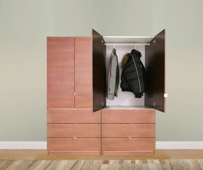 Contempo Closet's freestanding wardrobe solutions provide an affordable alternative for nursing h